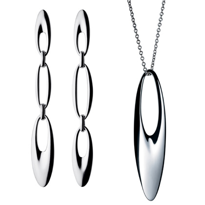 ZEPHYR Silver Earrings and Pendant by Georg Jensen