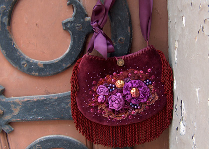 Krista R��k's Embellished Handbags and Fabric Jewelries