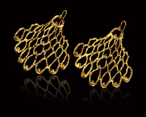Saya Hibino Jewelry - mesh earrings