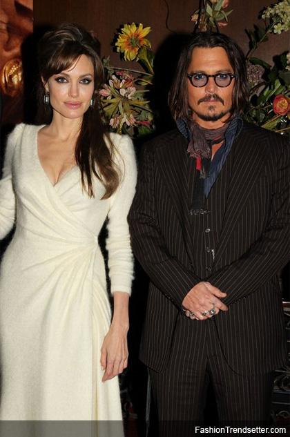 New York, NY - December 6, 2010: Angelina Jolie and Johnny Depp at the Premiere of Columbia Pictures' THE TOURIST at the Ziegfeld Theatre. Photo Courtesy of THE TOURIST Official Facebook Page.
