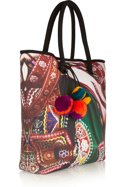 Mario Testino for MATE Canchis Printed Neoprene-Effect Tote