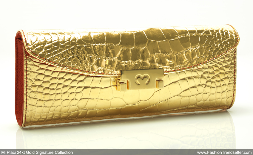 Mi Piaci: The World's First 24kt Gold Leather & F