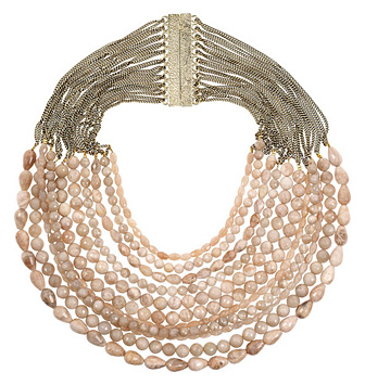 Rosantica - Raissa 24-karat Gold-plated Heliolite Bead Necklace