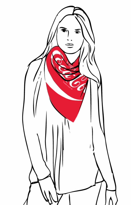 Plomo O Plata is Featuring Coca-Cola Scarves | Fashion Trendsetter