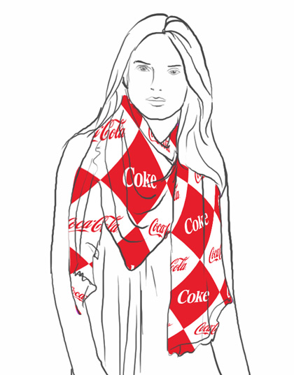 Plomo O Plata is Featuring Coca-Cola Scarves