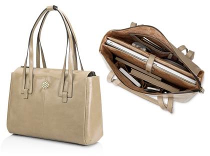 "Marshall Bergman 15"" Alyssa Leather Handbag"