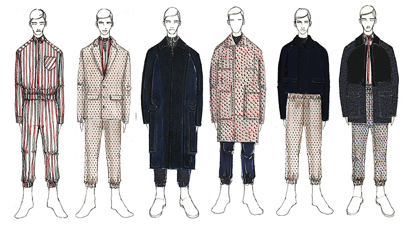 Fashion Designs by Marine Rongrong Wei, B.F.A. Menswear Design