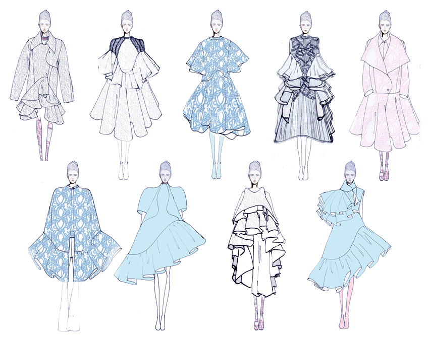 Fashion Designs by Nika Tang, M.F.A. Fashion Design,