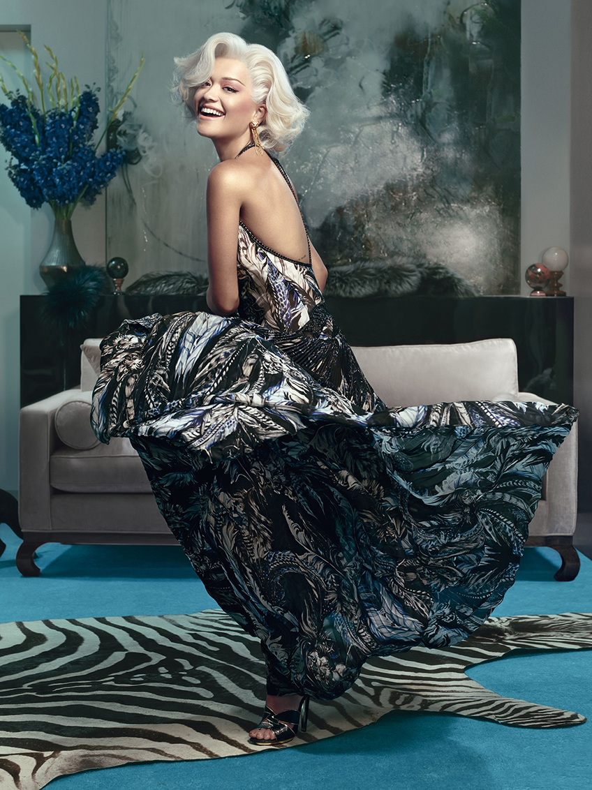 Rita Ora the New Face of the Roberto Cavalli Autumn/Winter 2014/2015 Advertising Campaign