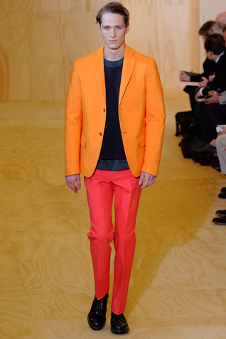 Jil Sander Autumn/Winter 2011/12 - Menswear Colors for Autumn/Winter 2011/12: Yellow and Orange