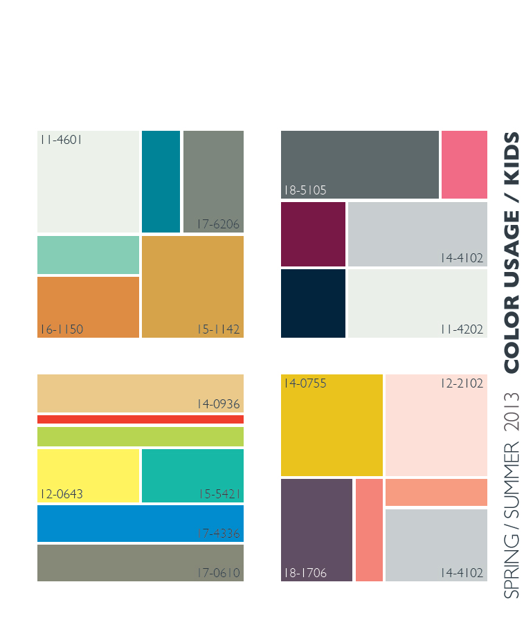 Lenzing Spring/Summer 2013 Color Trends | Color Usage for Kids