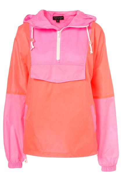 Topshop - Pink Neon Pullover Jacket