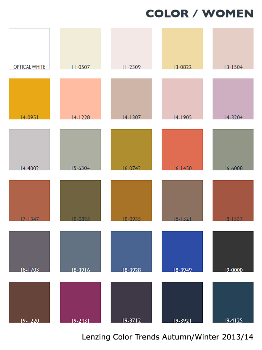 2013 Lenzing Colors Fashion Textiles Trends Spring Summer