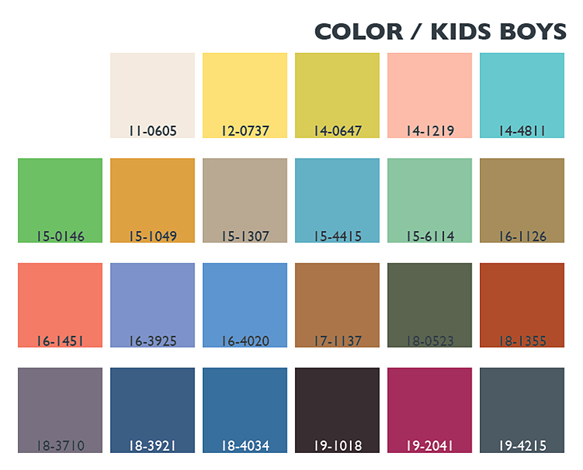 Lenzing Spring/Summer 2014 Color Trends Usage - Kids/Boys | Posted