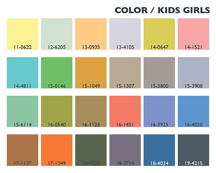 Lenzing Spring Summer 2014 Color Trends Usage Kids Girls