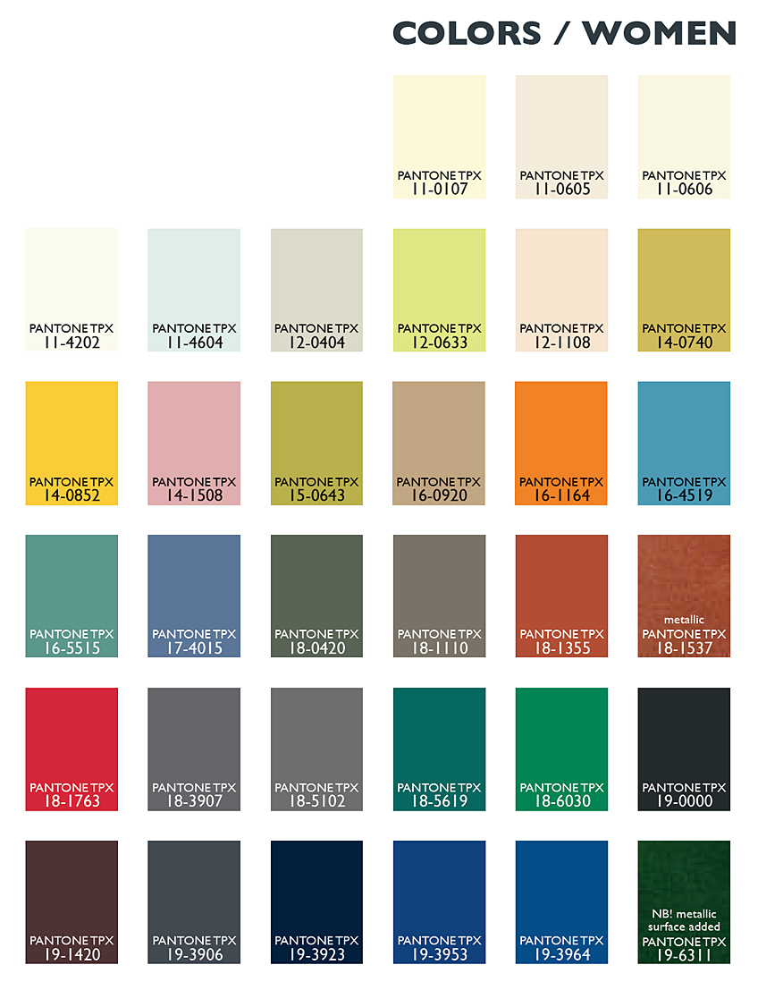Lenzing Color Trends Autumn/Winter 2014/2015 - Color Usage ...