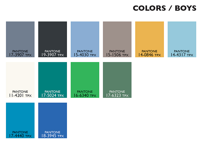 Lenzing Color Trends Spring/Summer 2015 - Color Usage Kids Boys