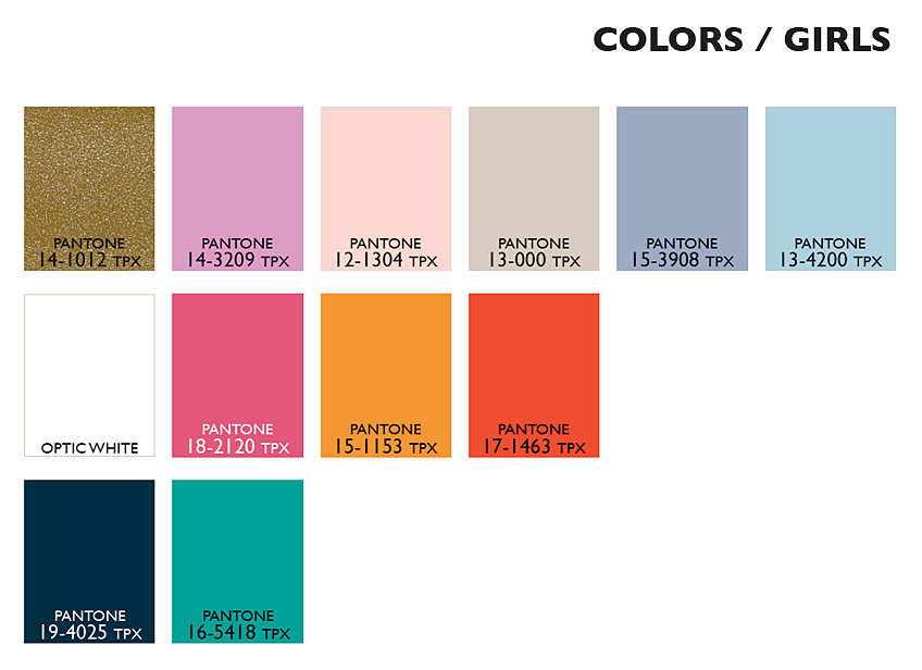 Lenzing Color Trends Spring/Summer 2015 - Color Usage Kids Girls