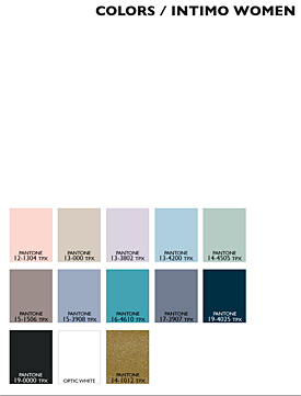 Lenzing Color Trends Spring/Summer 2015 - Womens - Lingerie/Intimate Apparel