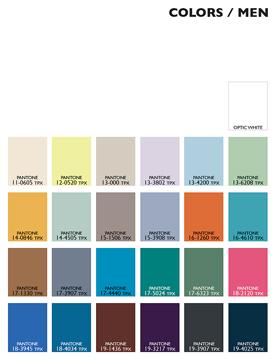 Lenzing Color Trends Spring/Summer 2015 - Menswear