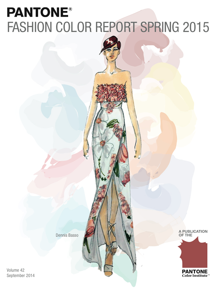 Fashion Design Sketch by Dennis BASSO, Courtesy of PANTONE.