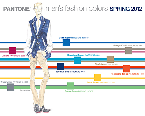 Pantone Fashion Color Report for Spring 2012 MENSWEAR COLORS