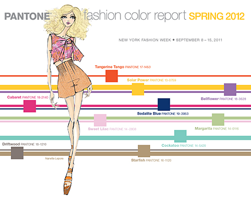 Pantone Fashion Color Report for Spring 2012 WOMENSWEAR COLORS