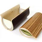 TIVI Handbag : Stainless Steel + Leather + Wooden Panels