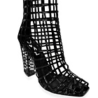 Yves Saint Laurent Patent Cage Low Boots