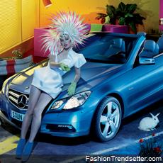 The Mercedes-Benz E-Class Cabriolet and Milla Jovovich