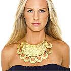Michael Kors Bib Necklace & Off-The-Shoulder Dress
