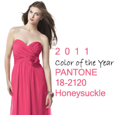 PANTONE Announced the 2011 Color of the Year: PANTONE 18-2120 Honeysuckle