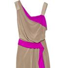 Color Decoder: Alberta Ferretti's Taupe Silk Crepe de Chine Dress