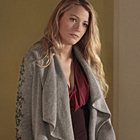 "Blake Lively Wore camilla and marc's ""Dark Crystal Night"" Cardigan on Gossip Girl"