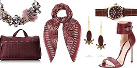 Pantone Color of the Year for 2015: PANTONE 18-1438 Marsala on Fashion Accessories