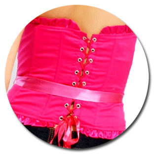 Frill Lace Up Corset