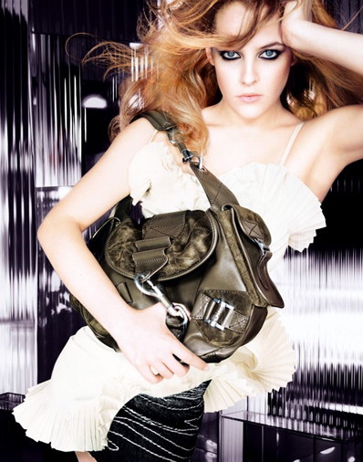 Dior Rebelle hobo bag in khaki soft leather and suede, brushed silver tone jewelry