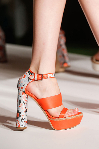 Printed heels at Mulberry.