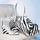 TOD'S Wedge and Bag in Zebra Print