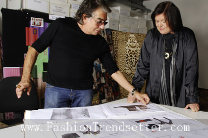 Roberto Cavalli and Margareta van den Bosch, Head of Design, H&M