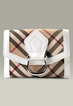 Burberry Check Credit Card Wallet