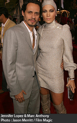 Jennifer Lopez and her husband Marc Anthony