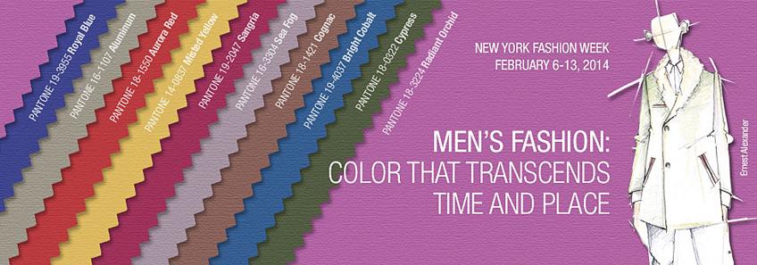 Pantone Fall 2014 Men's Color Palette