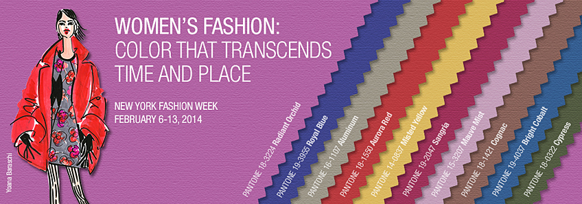 Pantone Fall 2014 Women's Color Palette