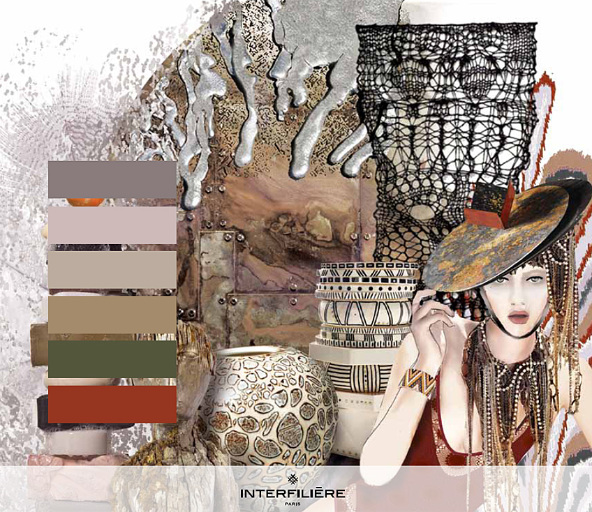 Key Theme II: Oxidised - Interfilière Fashion & Color Trends Autumn/Winter 2014/15