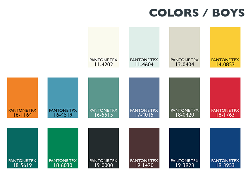 Color Usage Kids / Boys