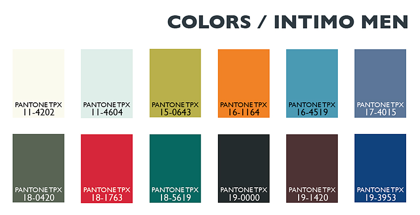 Color Usage Intimate Apparel Men