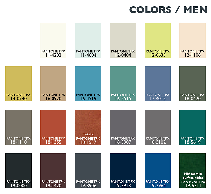 Color Usage Menswear
