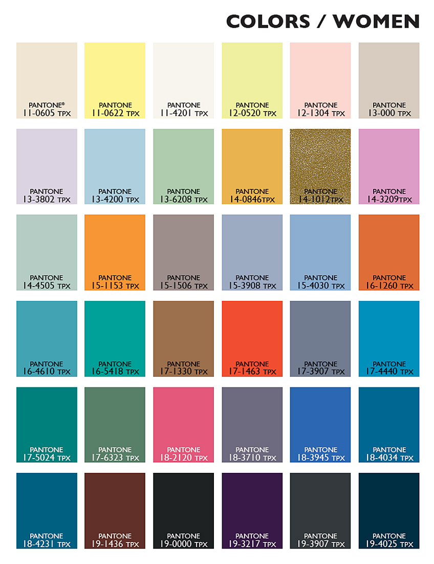 Spring Summer 2015 Fashion Colors