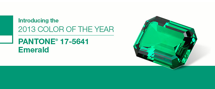 PANTONE Reveals Color of the Year for 2013: PANTONE 17-5641 Emerald